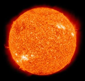 Close up picture of the sun on our sun gazing experience